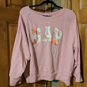 Like new! Gap XXL cropped pink sweat shirt